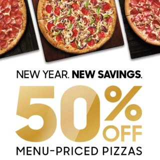 50% offLast Day: Extra Savings on Menu-Priced Pizza