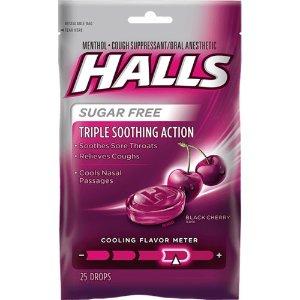 $5.99 收25块Halls 成人儿童舒喉糖、抗感舒喉棒棒糖热卖