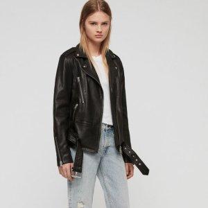 ALLSANTSWade Oversized Leather Biker Jacket