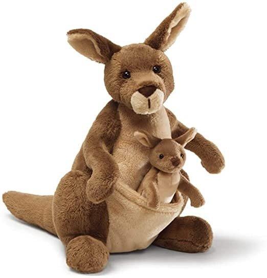 31074 Jirra Kangaroo Stuffed Animal Plush, Brown, 10 inch