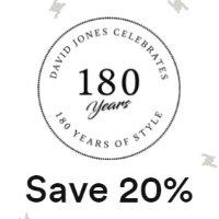 David Jones180周年庆:精选时尚美装、美鞋促销