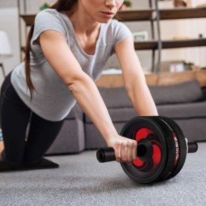 $17.84(原价$22.99)送护膝垫闪购:Arespark Ab 双向健腹轮 马甲线、腹肌从此刻开始