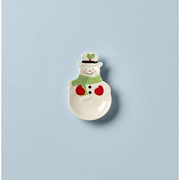 雪人造型小碟子