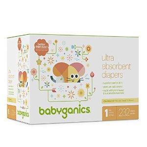 额外6折Babyganics 婴儿纸尿裤、湿巾大促
