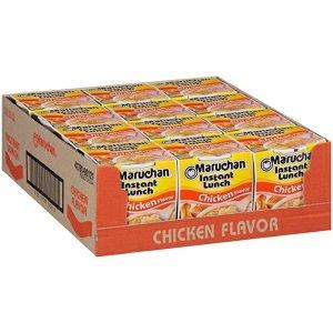 Maruchan速食杯面 鸡肉口味 2.25oz 12杯装