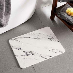 Simons Maison35 x 45 cm大理石纹理浴室地垫