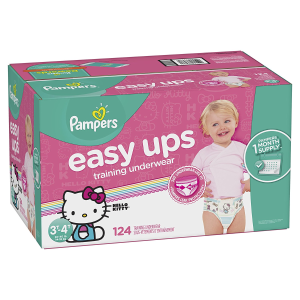$31.09Pampers Easy Ups Training Pants Pull On Disposable Diapers for Girls, Size 5 (3T-4T), 124 Count, ONE MONTH SUPPLY @ Amazon