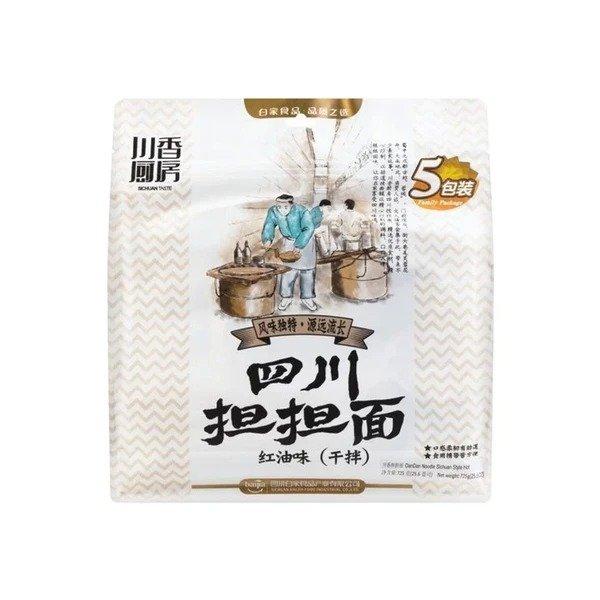 白家陈记 川香厨房 四川担担面红油味 干拌 五连包(细面) 725g