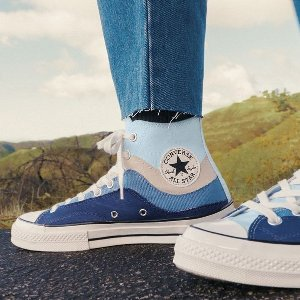 折扣区3.3折起Converse 蓝色系专场 海军蓝、天空蓝、牛仔色系帆布鞋
