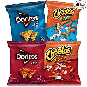 $8.29 每包$0.2白菜价:Frito-Lay Doritos&Cheetos混合多种口味 40包