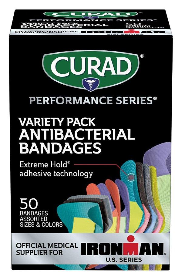 彩色抗菌多尺寸创可贴 50张