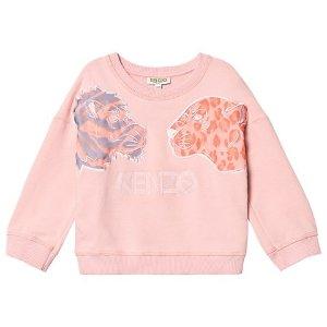 KenzoKids Pink Fabric and Embroidered Tiger and Friends Sweatshirt | AlexandAlexa
