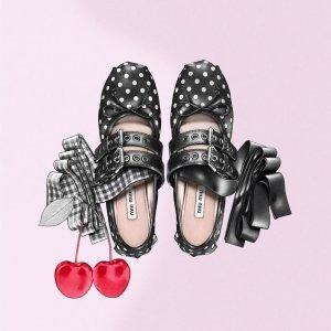 低至6折+额外9.5折 链条包$700+Miu Miu专场  经典绑带芭蕾鞋$400+收
