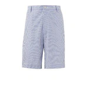 Stays Cool Cotton Plain Front Seersucker Shorts