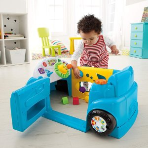 Amazon Fisher-Price Laugh & Learn Smart Stages Crawl Around Car, Blue