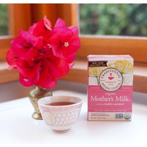$15.5 包邮 还有经期,孕期滋补茶Traditional Medicinals 有机草药催奶茶 16包 6盒