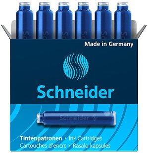 $0.99Schneider Fountain Pen Ink Cartridge, Blue Ink, Box of 6