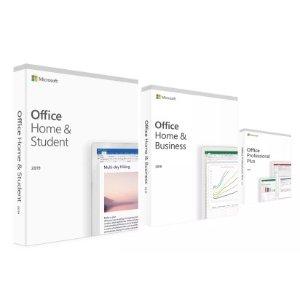 5折 仅€19.9 三种版本可选Microsoft Office 2019软件包半价 支持英语、法语等多种语言