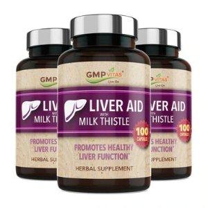 GMP Vitas® Super Liver Aid with Milk Thistle 100 Caps 3-Bottle Bundle