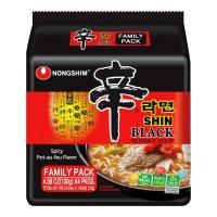韩国NONGSHIM农心 速食辛拉面 黑色系列 4包入 520g