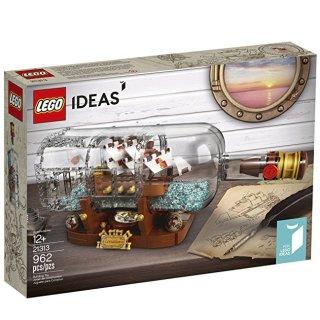 $55.99 (原价$69.99) 瓶中船好价回归LEGO IDEAS 瓶中船 21313及其他系列特卖