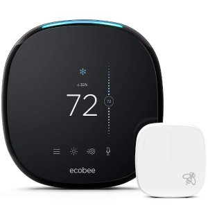 $199 无税包邮10周年独家:ecobee 4 智能无线恒温器 + 温度感应器