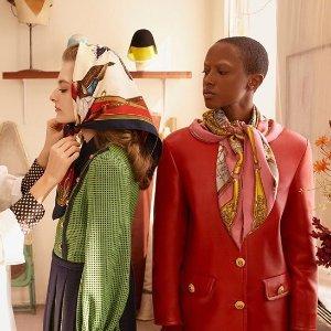 低至4.5折+免税包邮独家:大牌奢华围巾、丝巾专场 Gucci、巴黎世家都参加