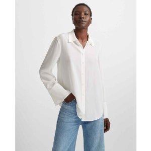 Club MonacoBell Cuff Silk Shirt