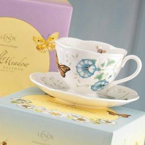 $11.99Lenox 蝶舞花香茶杯2件套