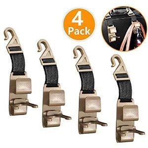 XBRN Car Headrest Hook 4 Pack