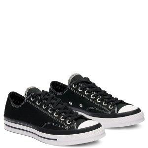 Conversex Moncler Fragment Chuck 70 低帮黑色帆布鞋
