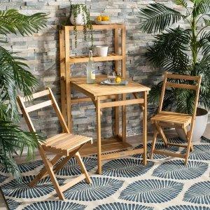 Safavieh户外餐桌餐椅3件套