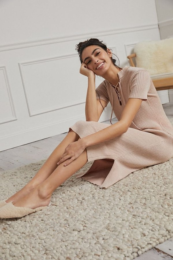 针织系带裙