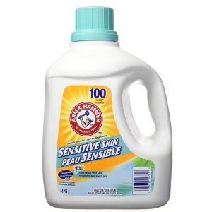 $7.98 (原价$9.97) 同类热卖冠军Arm & Hammer Laundry 敏感肌洗衣液4.43L  去渍留清香