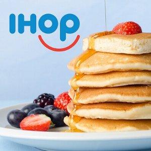 $4.99起IHOP 限时活动 任点一份早餐可畅吃Pancake