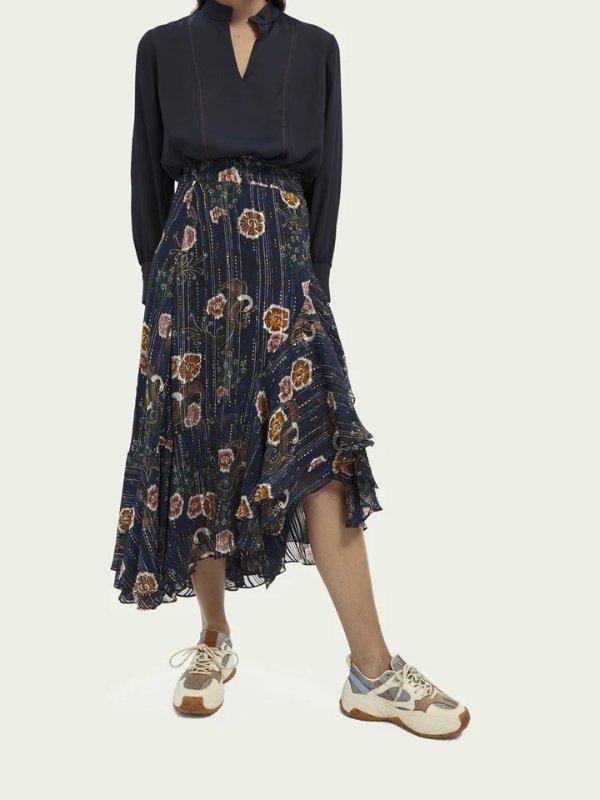 印花半身裙
