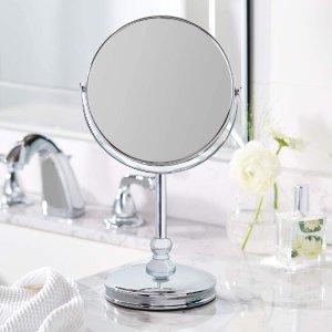 $16.16(原价$28.04)白菜价:Amazon Basics 简约风双面化妆镜 可5倍放大