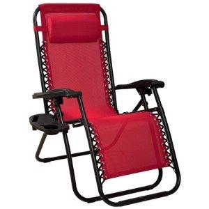 $43.97(原价$76.73)史低价:BalanceFrom 可调节零重力躺椅 可折叠式设计