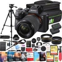Sony a7 III微单 + 28-70mm 镜头 + 相机包 & 2 x 电池组合