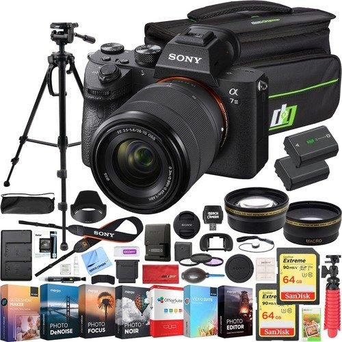 a7 III微单 + 28-70mm 镜头 + 相机包 & 2 x 电池组合