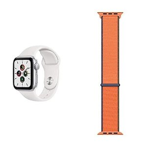 银色 2根表带 40mmApple Watch SE (GPS, 40 mm) 智能手表