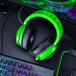 $69.99(原价$119.99)Razer Kraken 北海巨妖游戏耳机 绿粉黑灰四色可选