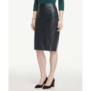 Ann TaylorEmbossed Faux Leather Pencil Skirt