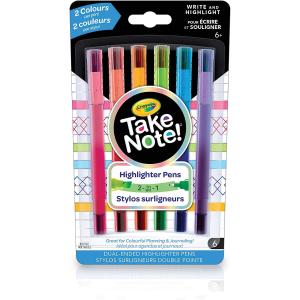$2.88(原价$7.29)Crayola 双头彩色马克笔6支装 两种粗细 相当于12支