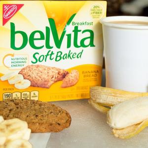$16.99 一块仅$0.52belVita 早餐松软饼干 香蕉蛋糕口味 30块装 方便健康早餐