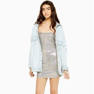 TopshopHolographic Bodycon Dress