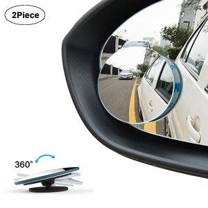 $7.63 (原价$10)WildAuto 无边后视镜小圆镜1对  360度可调  行车必备
