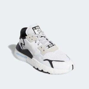 低至5折 £59收封面款adidas 白色专区 Night Jogger、卫衣、小白鞋热卖