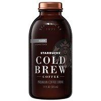 Starbucks 玻璃瓶装 冷萃无糖黑咖啡 11 oz 6瓶