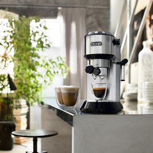 Black Friday Sale Live: De'Longhi Dedica 15-Bar Stainless-Steel Slim Espresso and Cappuccino Machine with 2 Cappuccino Glasses